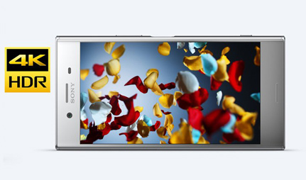 Sony Xperia XZ Premium 4K HDR display