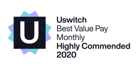 Uswitch Best Value Pay Monthly Highly Commended 2020