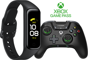 Claim either a Samsung Galaxy Fit2 or 3 months Gamepass Ultimate & MOGA XP5-X+ Game controller | Samsung S20 Fan Edition