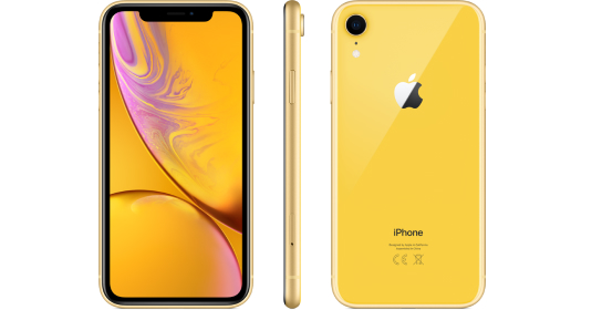 Yellow iPhone Front and Back