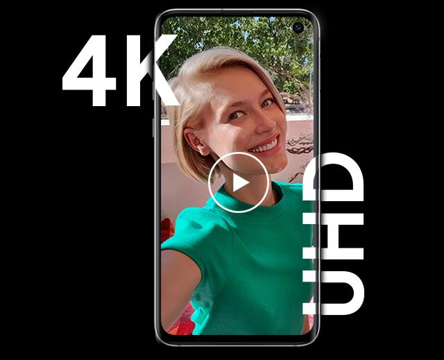 Samsung Galaxy S10e Video Woman 4K UHD