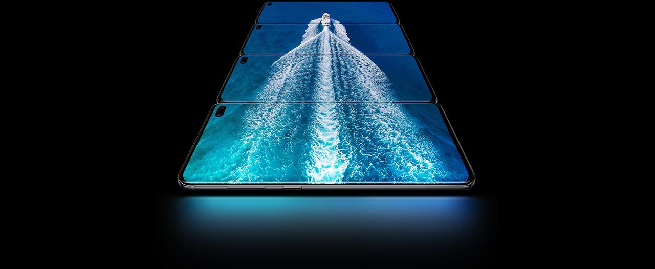 Multiple Samsung Galaxy S10 Plus Sea Boat