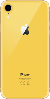 iPhone XR 64GB Yellow Refurbished (Back)