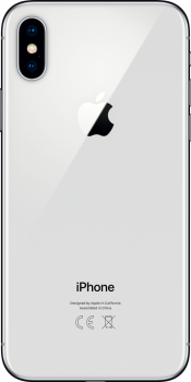 iPhone X 256GB Silver Refurbished (Back)
