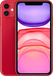iPhone 11 128GB Product Red Refurbished (Front)