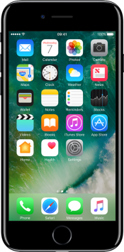 iPhone 7 32GB Jet Black Refurbished (Front)