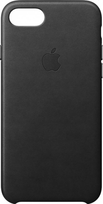 iPhone 7 8 Leather Case - Black