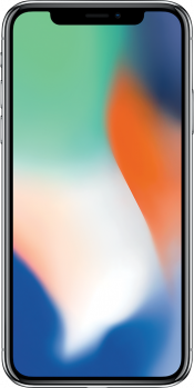 iPhone X 256GB Silver Refurbished (Front)