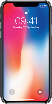 iPhone X 64GB Space Grey Refurbished (Front)