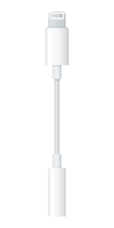 Apple Lightning To Headphone Jack Adaptor White