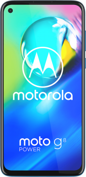 Moto G8 Power 64GB Capri Blue (Front)