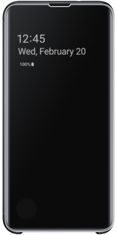 Clear View Cover S10 Plus Black