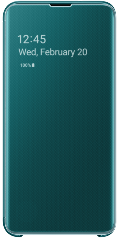 Galaxy Clear View Cover S10 Plus Green (Front)