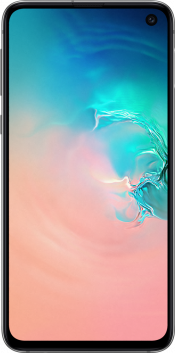 Galaxy S10e 128GB Prism White Refurbished (Front)