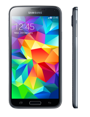 Samsung Galaxy S5 side view image