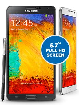 Samsung Galaxy Note 3 handset