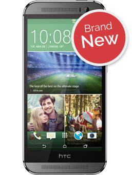 Handset image of the HTC One M8
