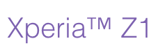 Sony Xperia Z1 logo