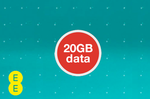 Large 20GB 4G data allowance on EE