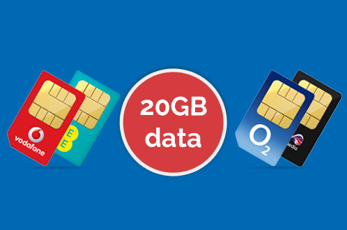 Large 20GB 4G data allowance on Sim only