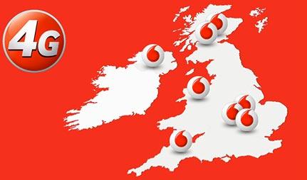 4G coverage Vodafone