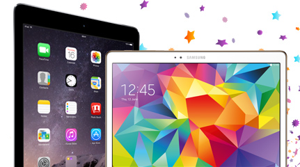 Apple iPad Air 2 & Samsung Galaxy Tab S - Tablet deals