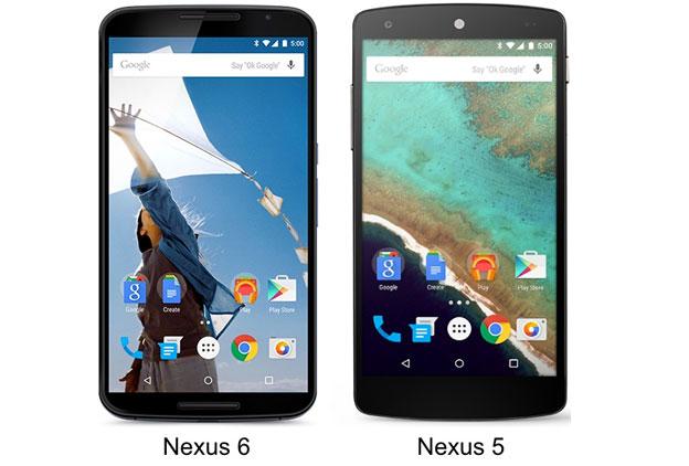 Motorola Nexus 6 vs. LG Nexus 5
