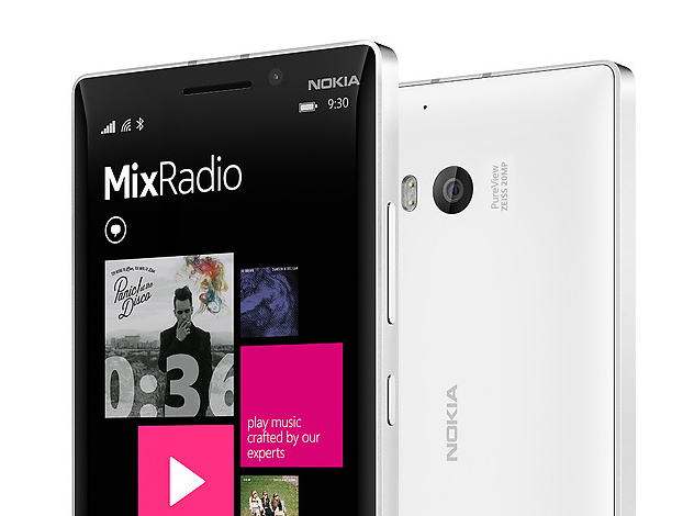 Mix Radio on the Nokia Lumia 930