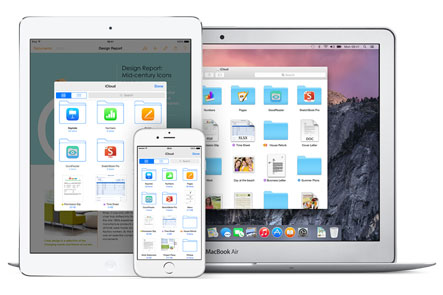 Store images and documents on iCloud and sync with all devices