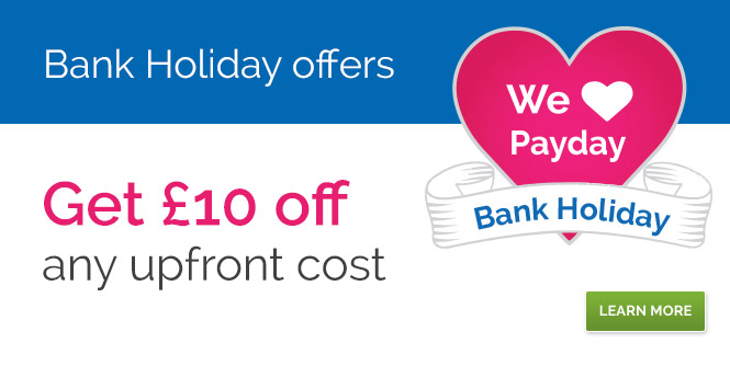 £10 off any upfront cost this Payday