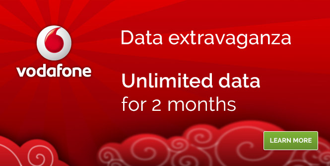 Unlimited 4G Vodafone data