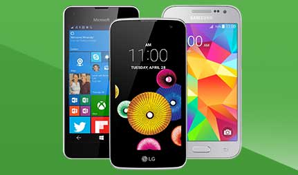 Selection of affordable smartphones