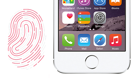 iphone 5s with finger print