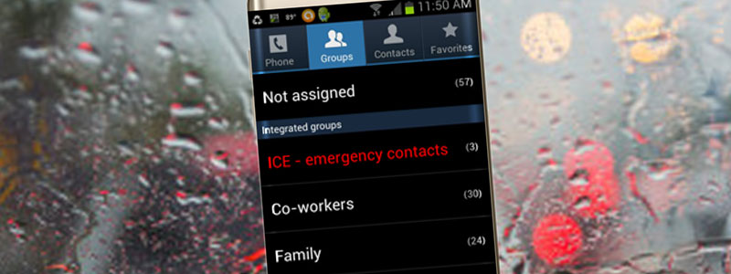 Smartphone SOS - ICE Contacts