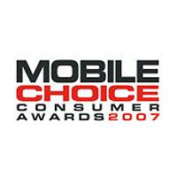 Mobile Choice Consumer Awards Best Online Retailer Runner Up 2007