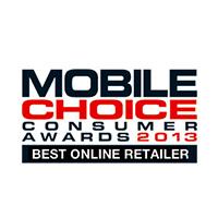 Mobile Choice Consumer Awards Best Online Retailer Winner 2013