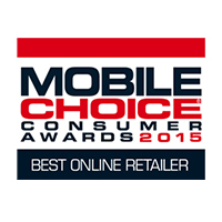 Mobile Choice Consumer Awards Best Online Retailer Winner 2015