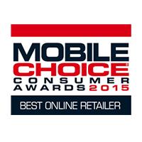 Mobile Choice Consumer Awards Best Online Retailer Winner 2015