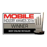Mobile Choice Industry Awards Best Online Retailer Winner 2016