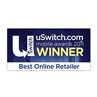 uSwitch Mobile Awards Best Online Retailer Winner 2011