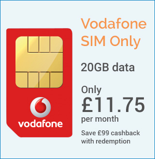 Vodafone Sim only 20gb data