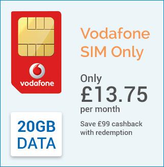 Vodafone Sim only 20gb data