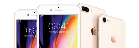 Apple iPhones on pay-monthly contract.
