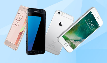 Pay as you go choice of phones