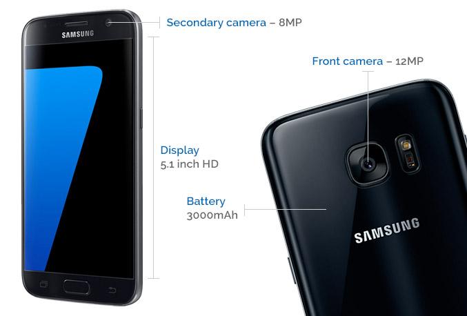 Samsung Galaxy S7 and S8+ comparison