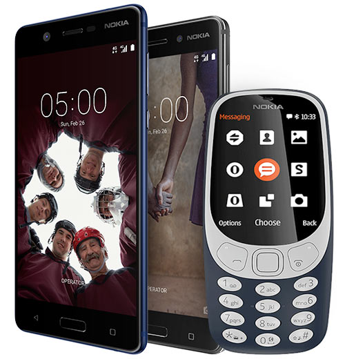 Nokia handsets 2017