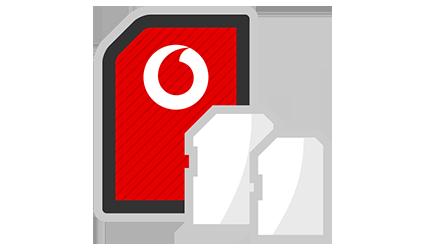Vodafone SIM size