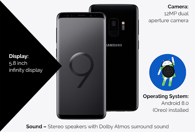 Samsung Galaxy S9 and S8 comparison