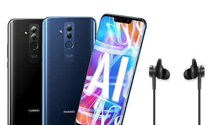 Free headphones with Huawei Mate 20 Lite