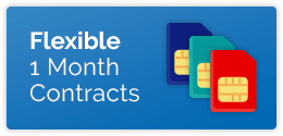 Flexible One month SIM only contracts available